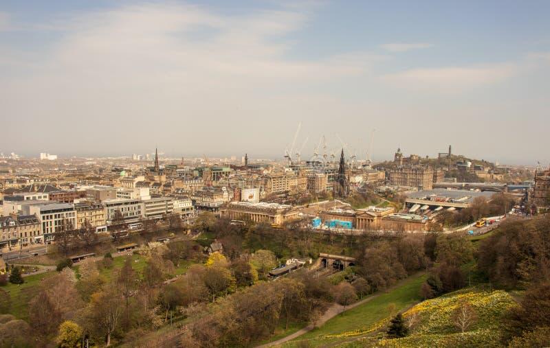 Widok Edynburg od grodowych ramparts zdjęcia royalty free