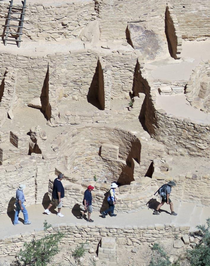 Widok faleza pałac, mesy Verde park narodowy zdjęcie royalty free