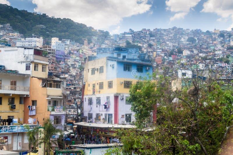 Widok favela Rocinha obrazy stock