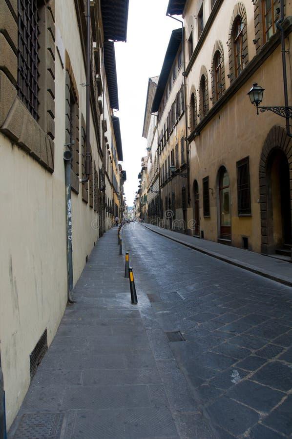 Widok Firenze brzeg rzeki niektóre dziejowy budynek i fotografia royalty free