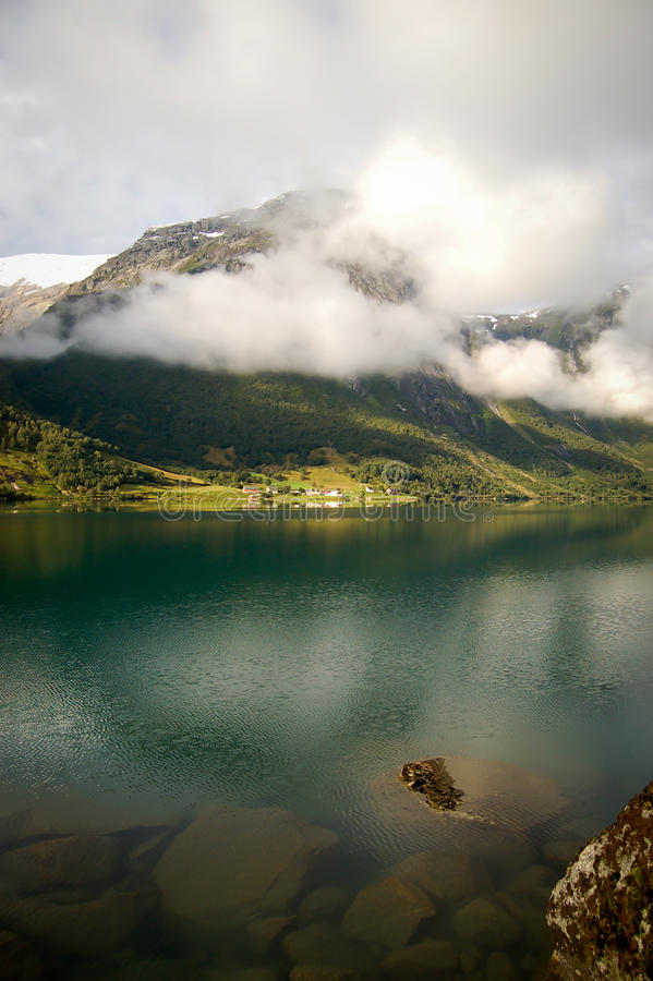 Widok fjord w Norwegia obrazy stock
