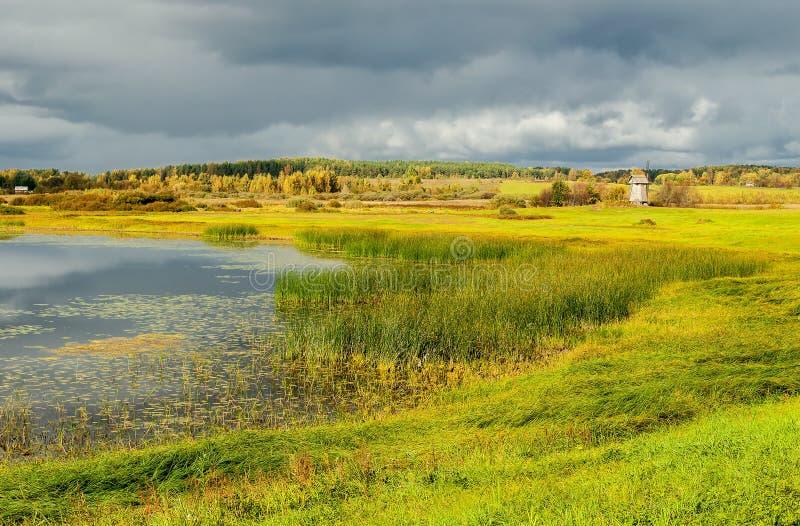 Widok floodplain rzeczny Soroti zdjęcia royalty free