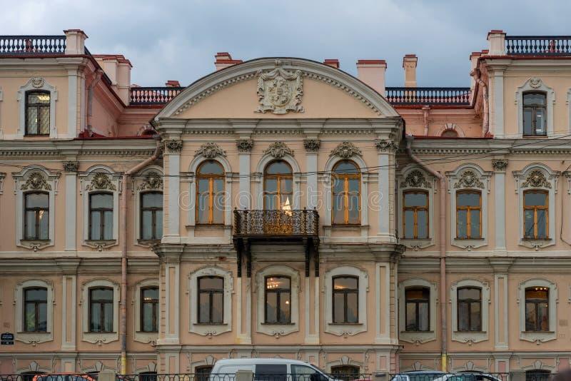 Widok Fontanka bulwaru Rzeczny dom 46 obraz royalty free
