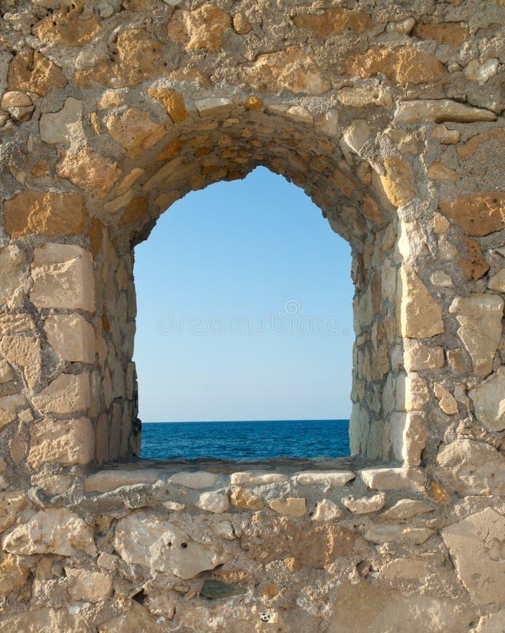 widok forteczny denny okno zdjęcia stock