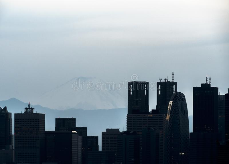 Widok Fuji Shinjuku i góra obrazy royalty free