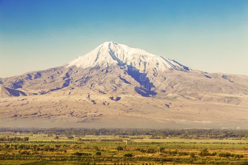 Widok góra Ararat od Armenia fotografia stock