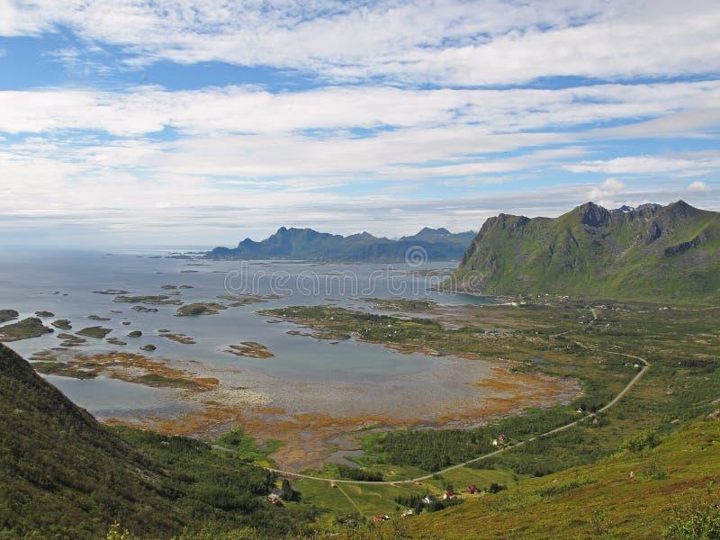 Widok górski - Lofoten wyspy obrazy royalty free
