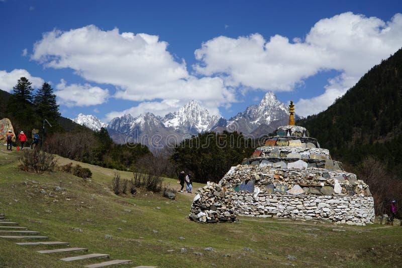 Widok górski na Syczuanie zdjęcie stock