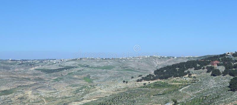 Widok górski od Nebo góry zdjęcie stock