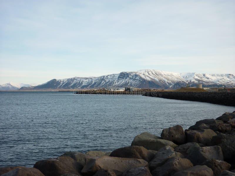Widok górski, Reykjavic obraz royalty free