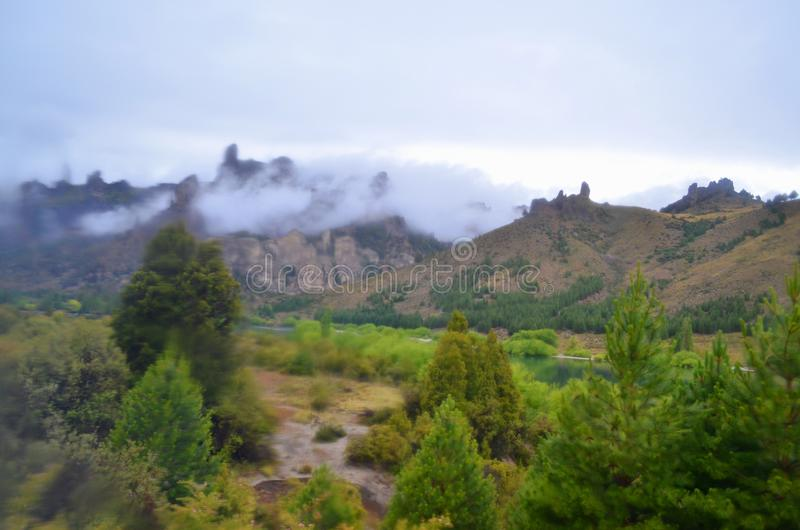 Widok górski, San Carlos De Bariloche fotografia royalty free