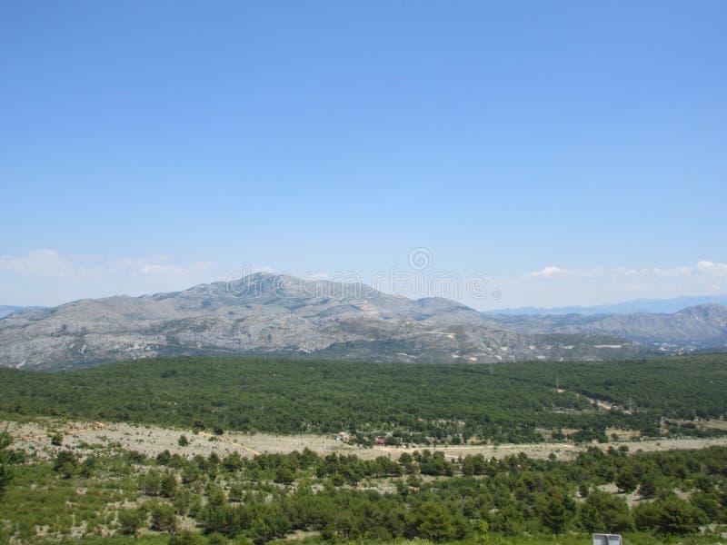 Widok górski w Chorwacja obraz royalty free
