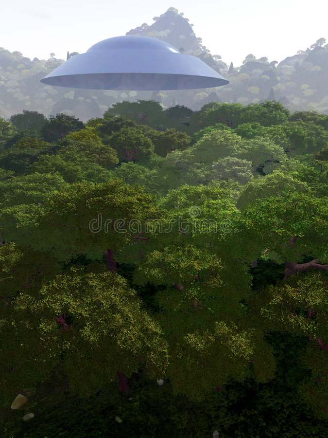 Widok Górski Z UFO 3 Fotografia Stock