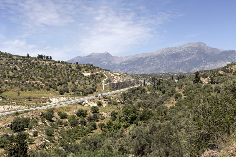 Widok góry i wieś obrazy royalty free