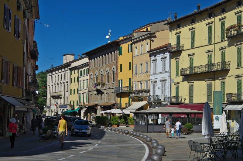 Widok główny plac Porretta Terme zdjęcie royalty free