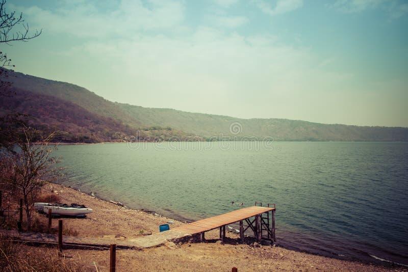 Widok Gangplank na lagunie obrazy stock