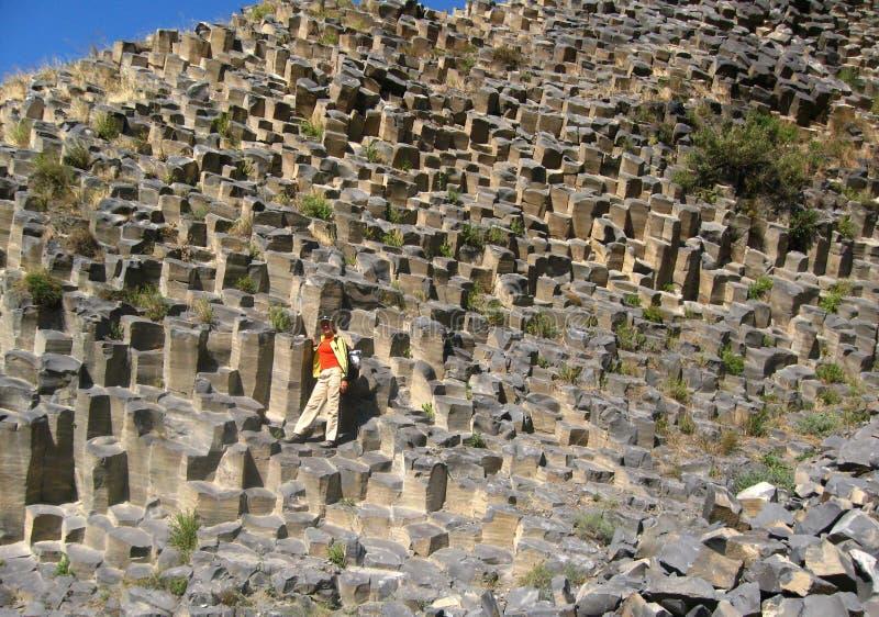 Widok Garni bazaltowy jar w Armenia zdjęcie royalty free