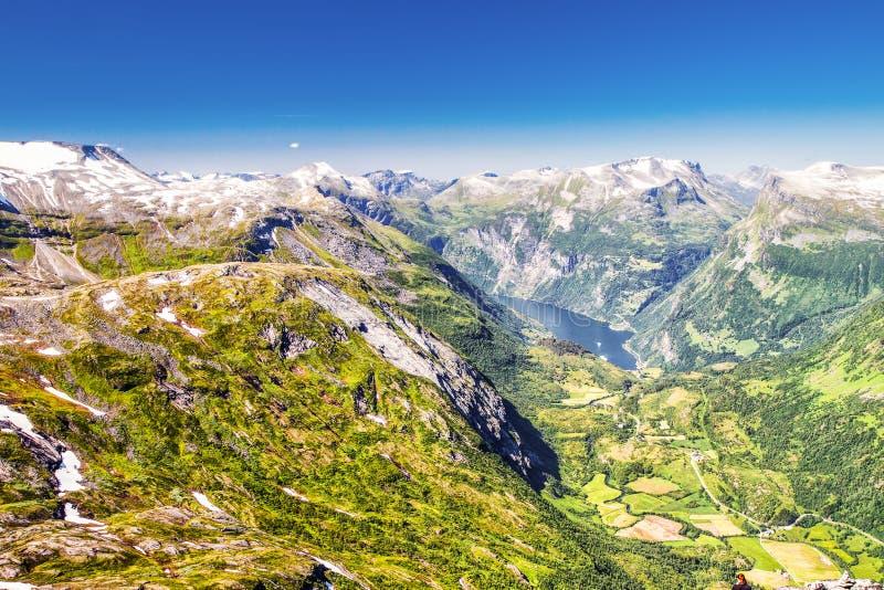 Widok Geirangerfjord w Norwegia, Europa obrazy stock