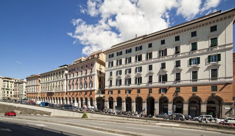 Widok genua, Włochy obraz stock