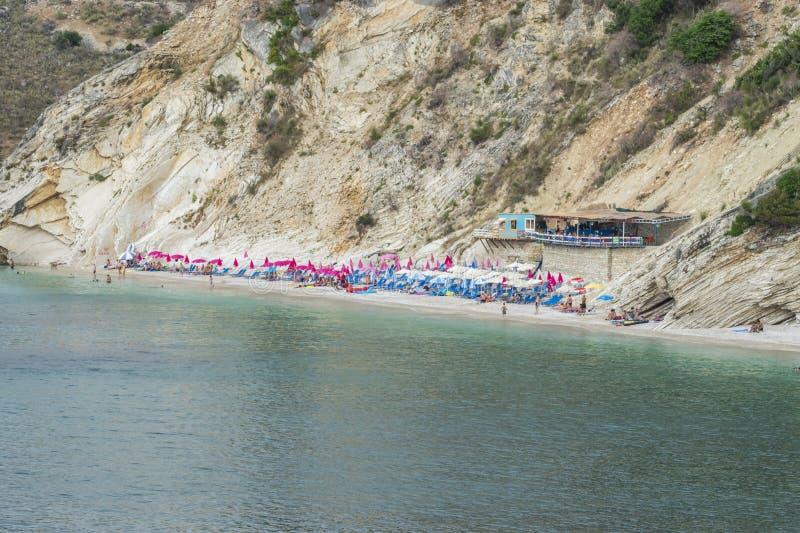 Widok gołąb jamy plaża fotografia stock