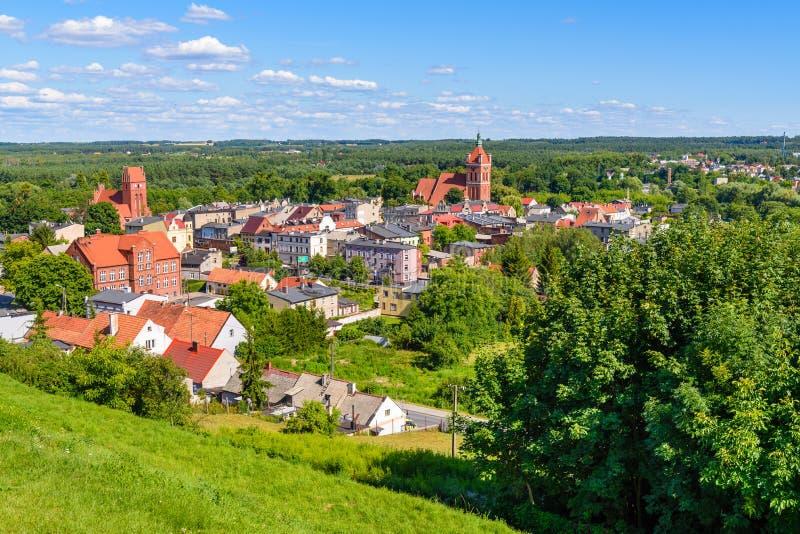 Widok Golub-Dobrzyn miasto w Polska zdjęcia royalty free