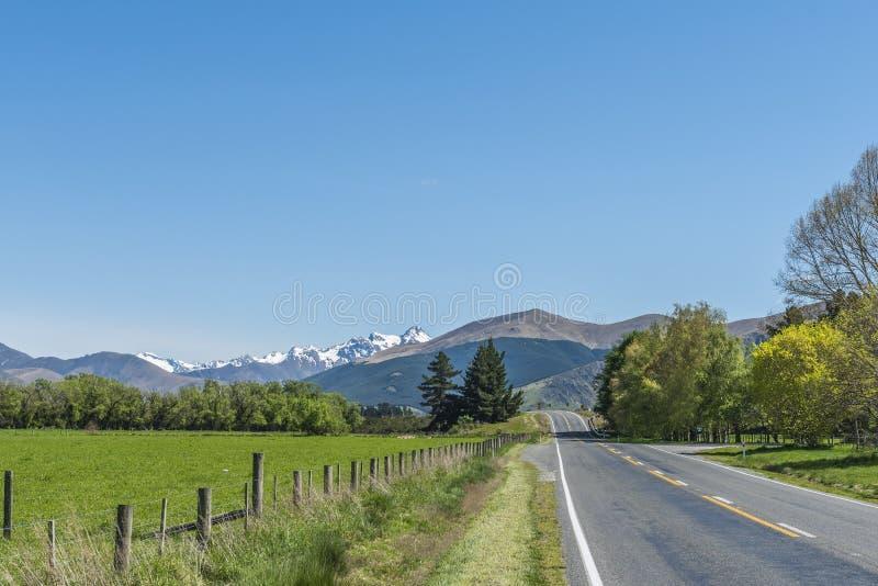 Widok halny krajobraz, Queenstown, Nowa Zelandia zdjęcie royalty free