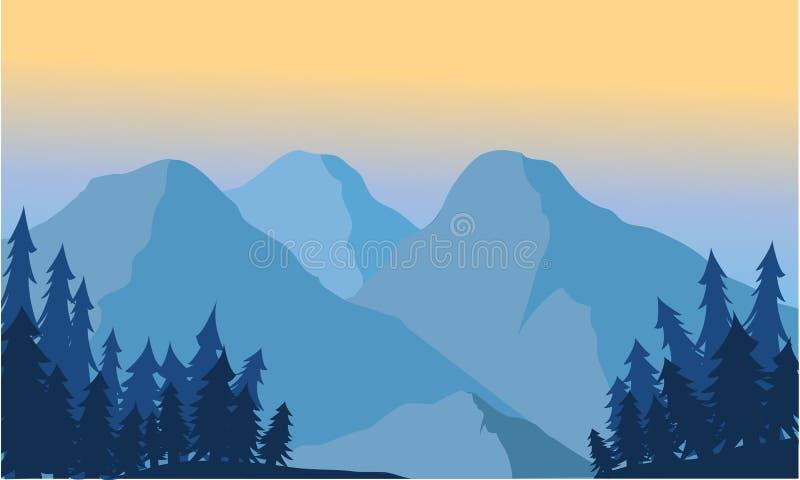 Widok halny lód ilustracja wektor