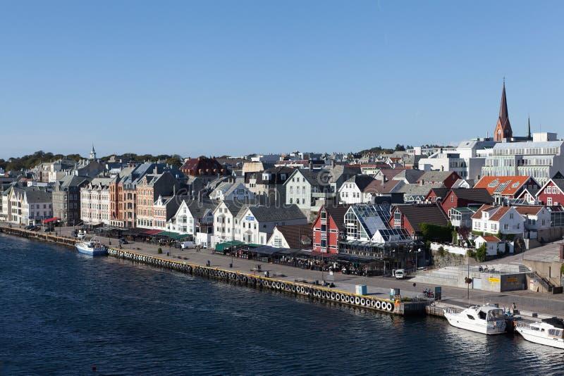Widok Haugesund Norwegia zdjęcie royalty free