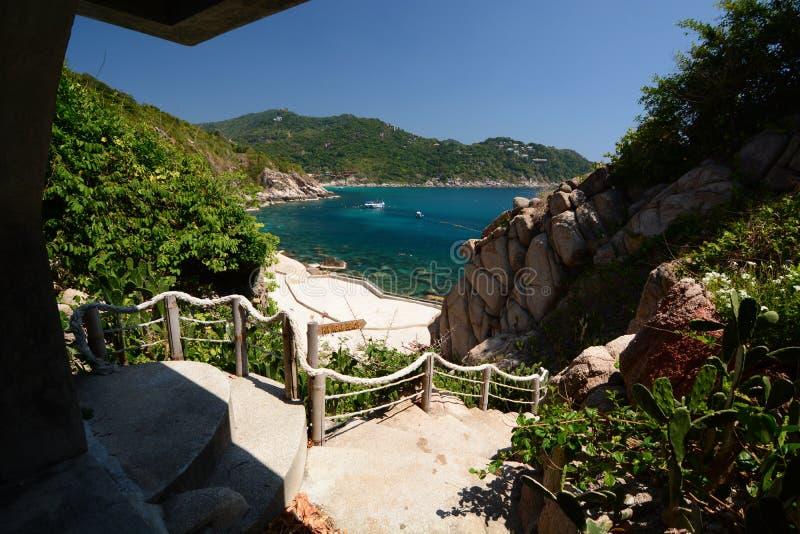 Widok Hin Ngam zatoka koh Tao Chumphon archipelag Tajlandia obraz stock