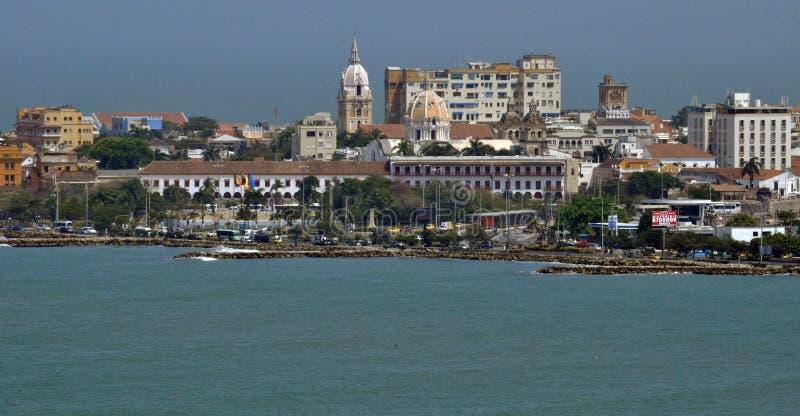 Widok historyczny centrum Cartagena, Kolumbia obraz royalty free