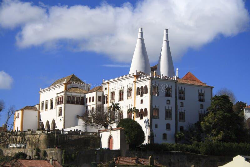 Widok Historyczny Centrum miasto Sintra zdjęcia royalty free