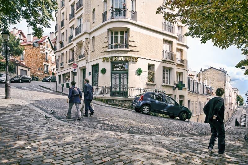 Widok historyczny okręg Montmartre w Paryż, Francja zdjęcie royalty free