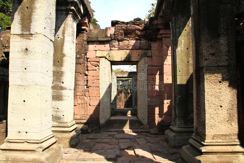 Widok historyczny Prasat Hin Phimai kasztel obraz royalty free
