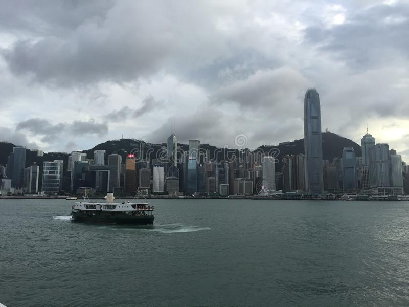 Widok Hong Kong wyspa zdjęcia stock