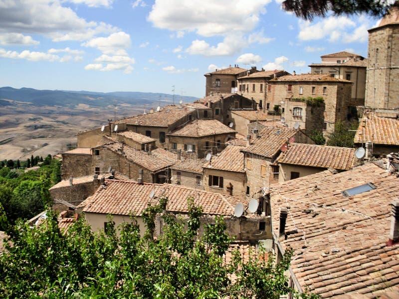 Widok hrabstwa Włoch w pobliżu Volterry zdjęcia royalty free