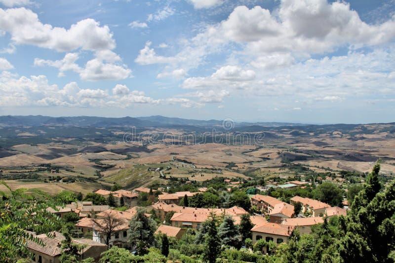 Widok hrabstwa Włoch w pobliżu Volterry fotografia stock