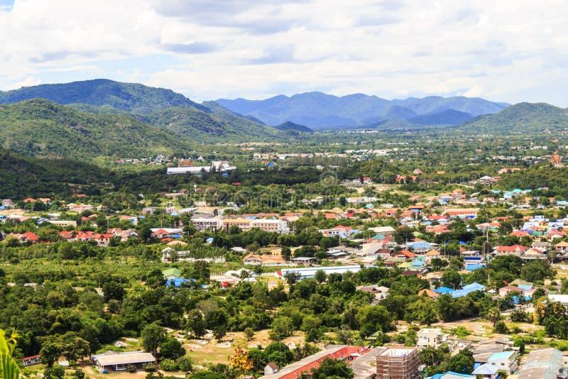 Widok Hua Miasto, Prachuapkhirikhan, Tajlandia zdjęcie stock