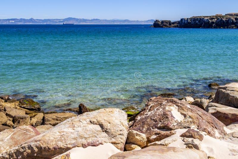 Widok Isla De Las Palomas, Andalusia, Hiszpania fotografia royalty free