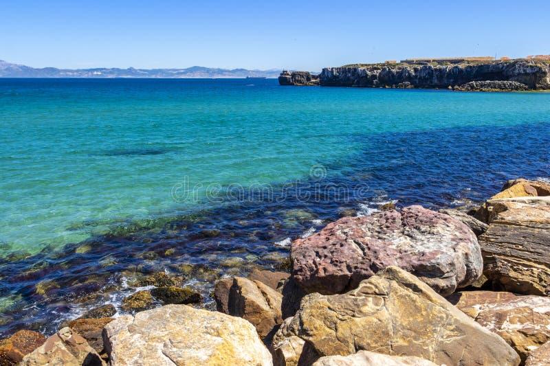 Widok Isla De Las Palomas, Andalusia, Hiszpania obraz royalty free