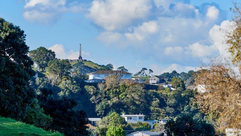 Widok jeden drzewny wzgórze w Auckland obraz stock