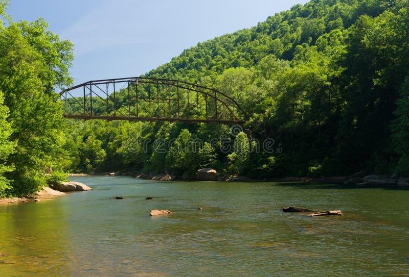 Widok Jenkinsburg most nad nabranie rzeką fotografia stock