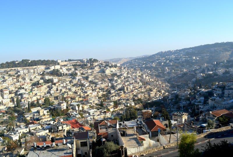 Widok Jerozolima od starego miasta zdjęcie royalty free