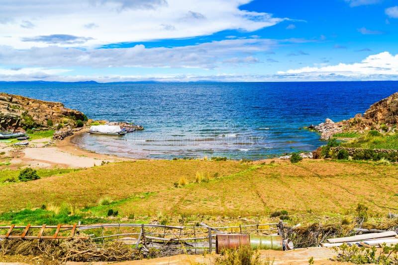 Widok Jeziorny Titicaca obraz stock