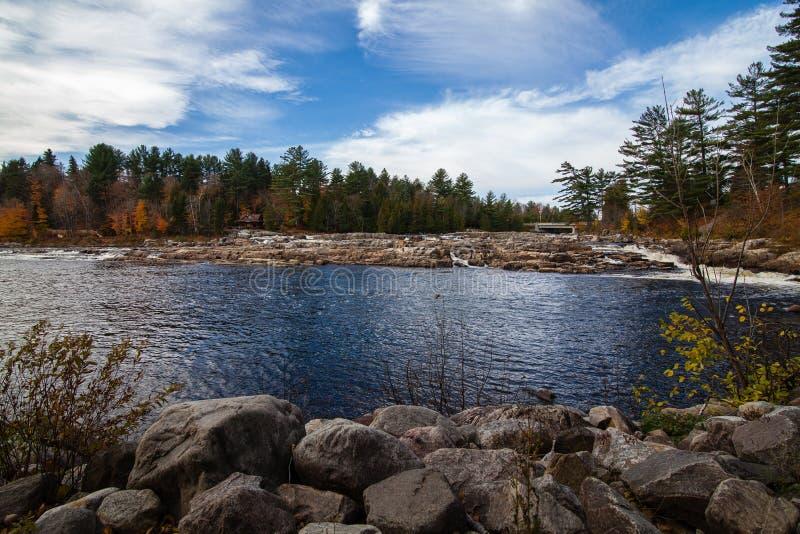 Widok jezioro w lecie zdjęcia royalty free