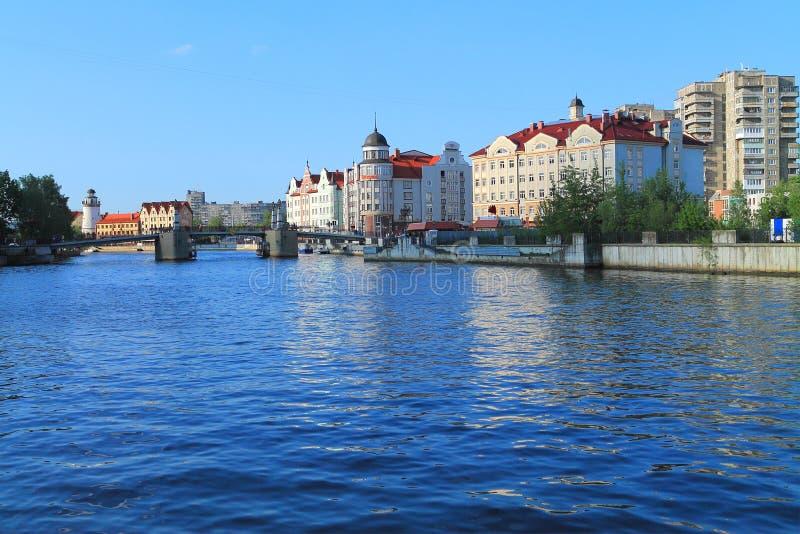 Widok Kaliningrad - Rybia wioska fotografia stock