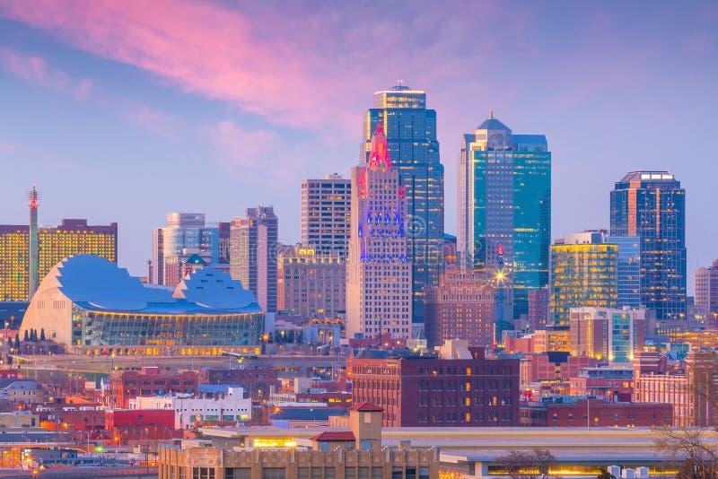 Widok Kansas City linia horyzontu w Missouri obrazy stock