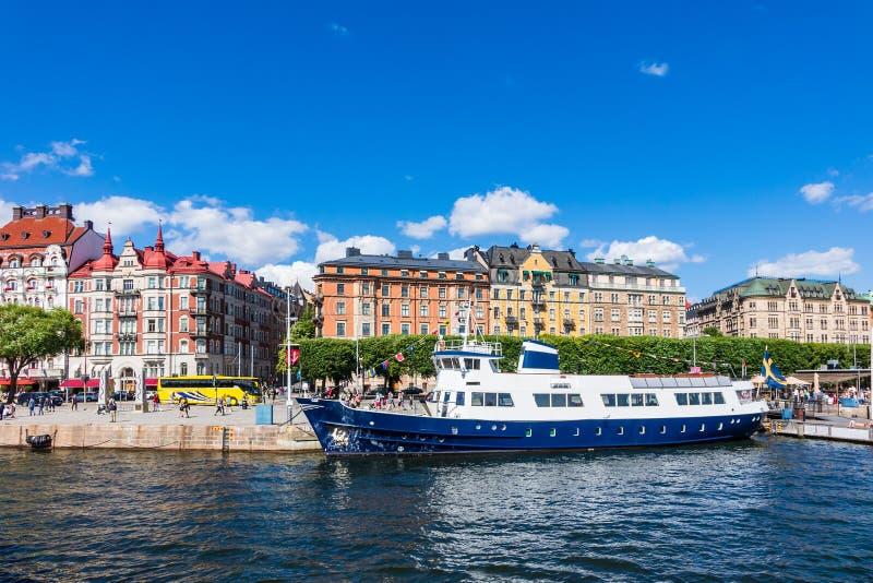 Widok kapitał Szwecja, Sztokholm zdjęcie stock