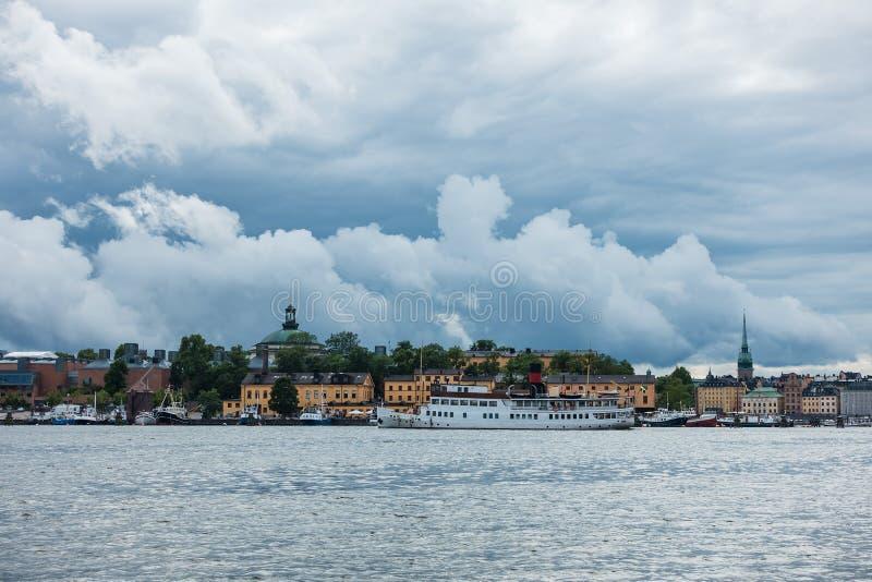 Widok kapitał Szwecja, Sztokholm zdjęcie royalty free