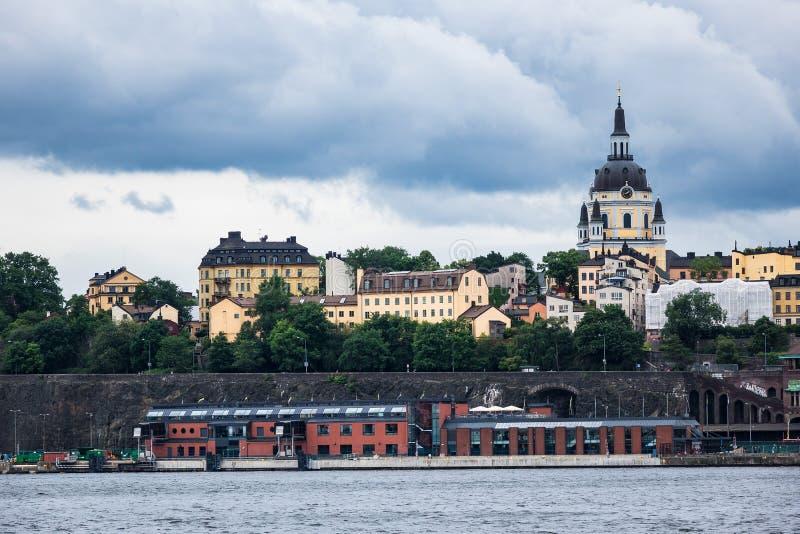 Widok kapitał Szwecja, Sztokholm fotografia stock