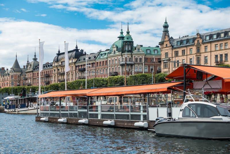 Widok kapitał Szwecja, Sztokholm fotografia royalty free
